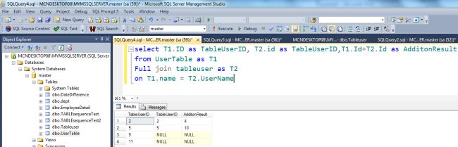 Sum Of Columns Of Two Tables Into One Column In Sql Server 2012