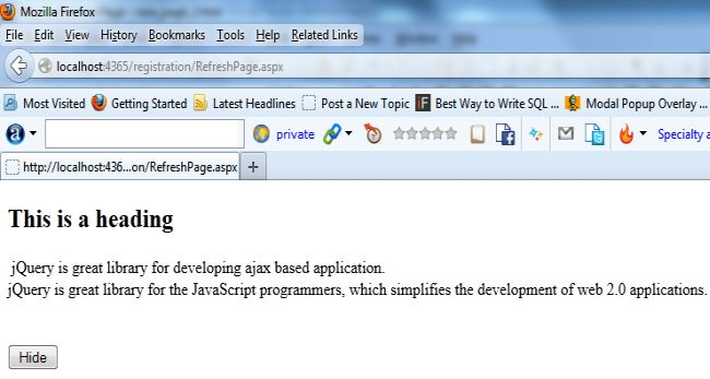 how to write jquery function