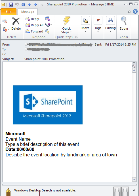 How to Create HTML Email Message in SharePoint Designer 2010 Workflow