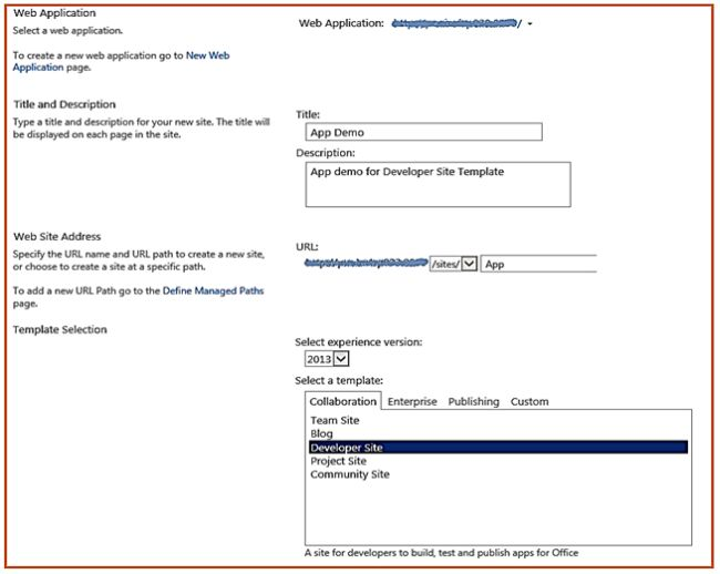overview of sharepoint 2013 developer site template