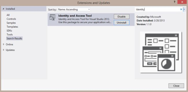 Installing the Identity and Access Tool