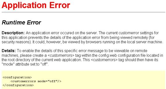 Error Handling In ASP.NET and VB.NET