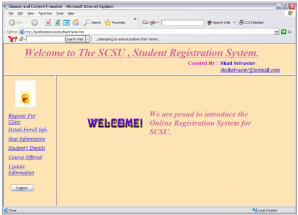 ⛔ Online course registration system project in java source code