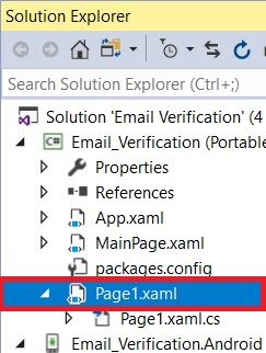 Email Verification In Android and UWP Using Xamarin.Forms