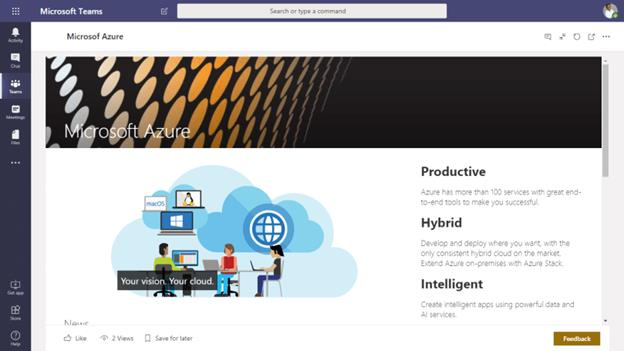 Add Modern SharePoint Site Page In Microsoft Teams