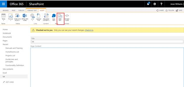 Add table of contents webpart in sharepoint online site on the edited page click on insert tab from the top ribbon solutioingenieria Gallery