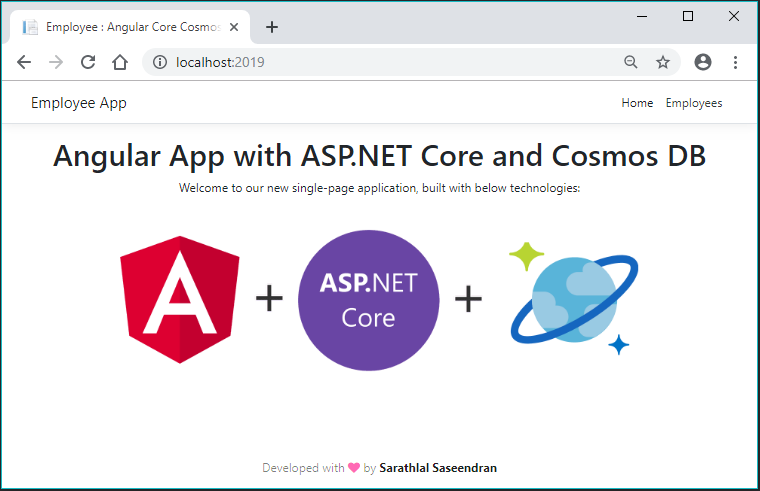 Angular App With ASP.NET Core And Cosmos DB