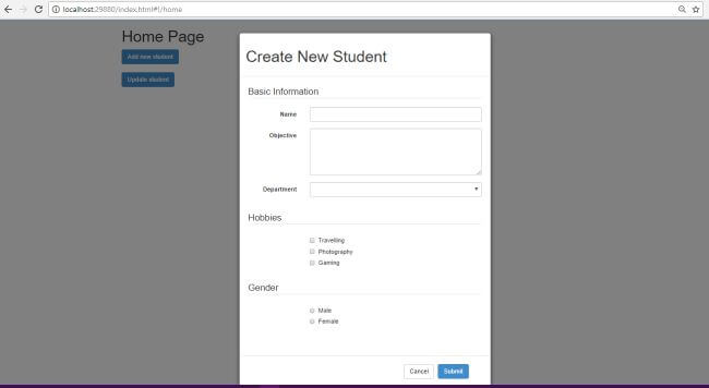 Angular Bootstrap And Asp Mvc Part Seven Bootstrap Modal Forms
