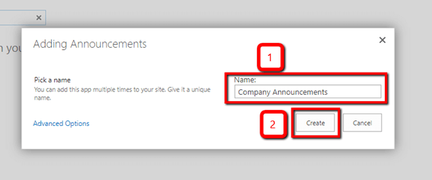 Announcements List In SharePoint