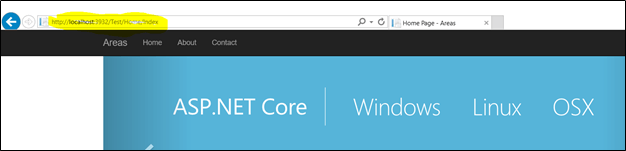 Areas in ASP.NET Core