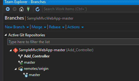 ASP.NET MVC Project Integration With Github