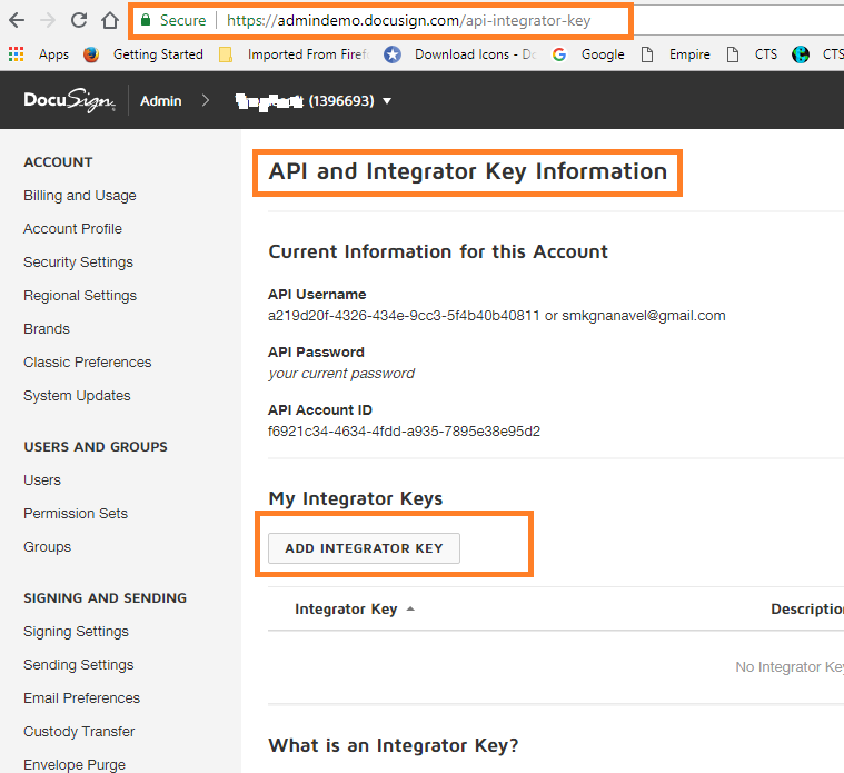ASP.NET MVC 5 - Integrate And Validate DocuSign Connection With Web Application