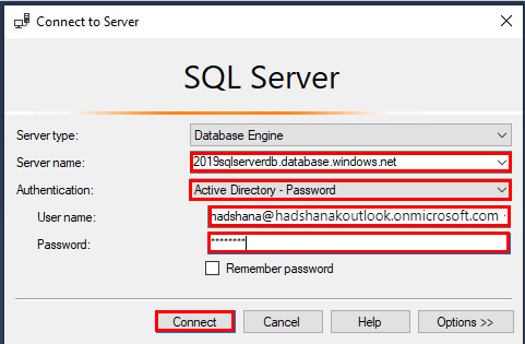 Azure Active Directory User/Group And Azure SQL Database