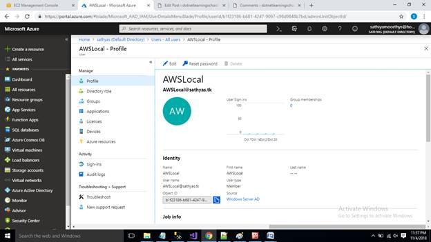 Azure AWS AD Users Sync Up - Install Azure AD Connect in Windows Server