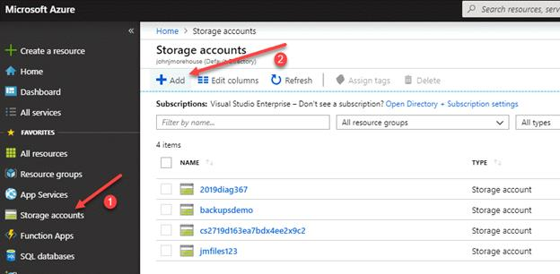 Azure - Creating A Storage Account