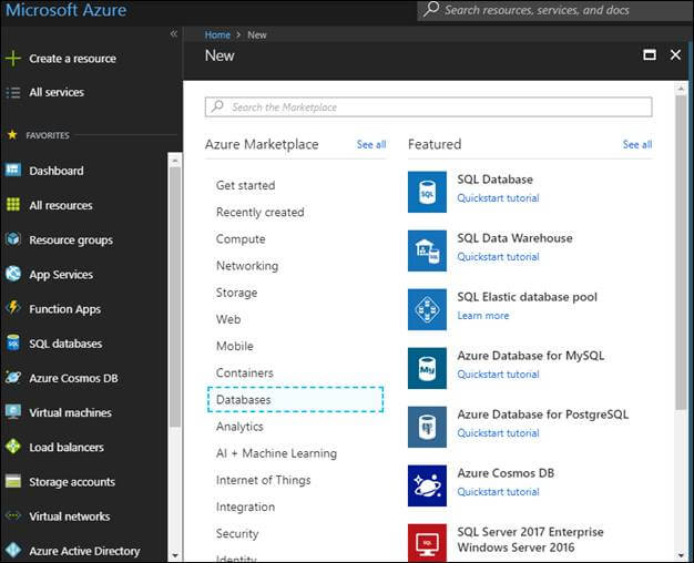 Azure Cosmos Db database