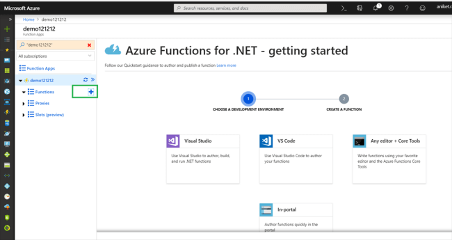 Azure Function App V2 Using C# (.NET Core)