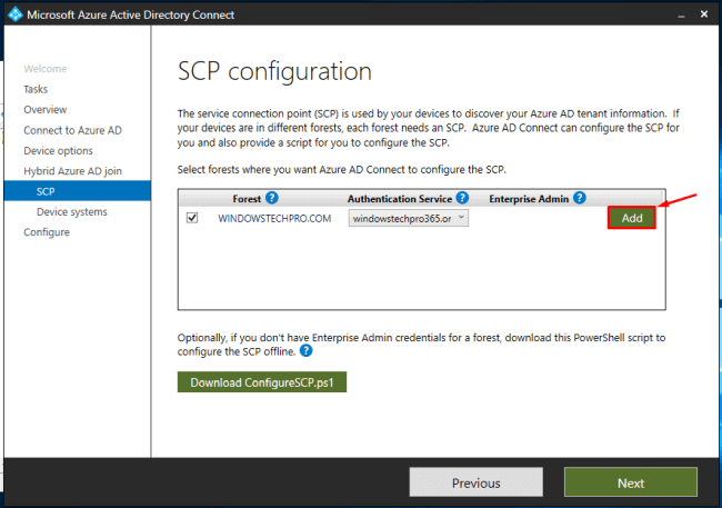 Azure Hybrid Domain Device Configuration Using AADConnect