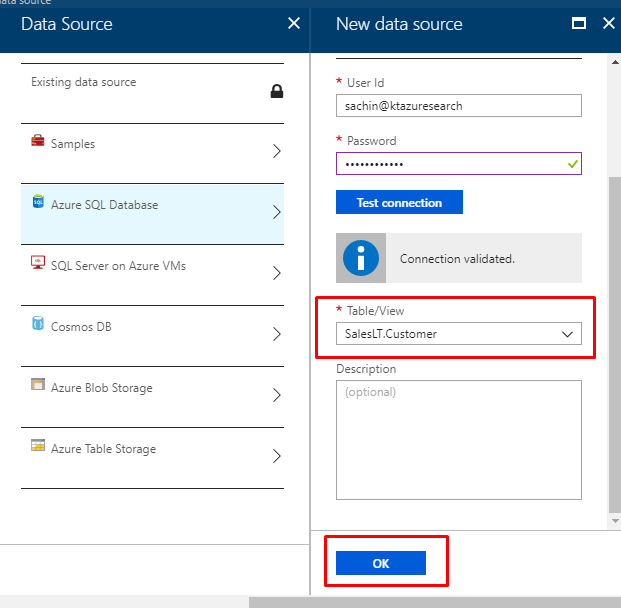 Azure Search - table