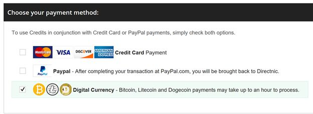 Many Online Shopping Carts That Accept Bitcoins Will Have An Option Similar To The Following Cryptocurrency Icons Bitcoin LiteCoin And Dogecoin