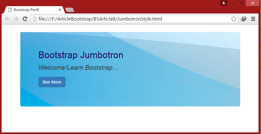 Bootstrap For Beginners Part Eight Bootstrap Jumbotron