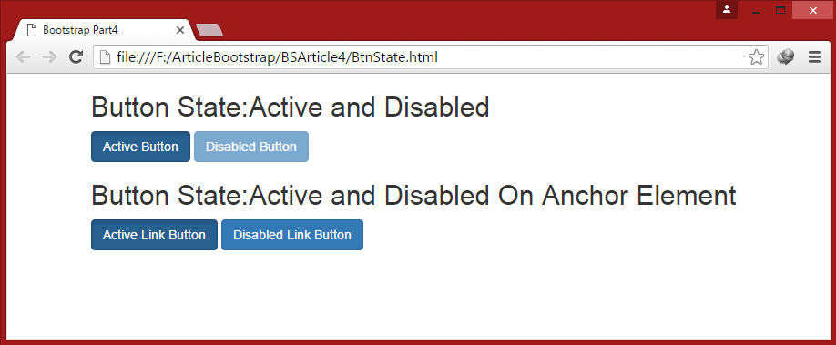 to disable a button in html