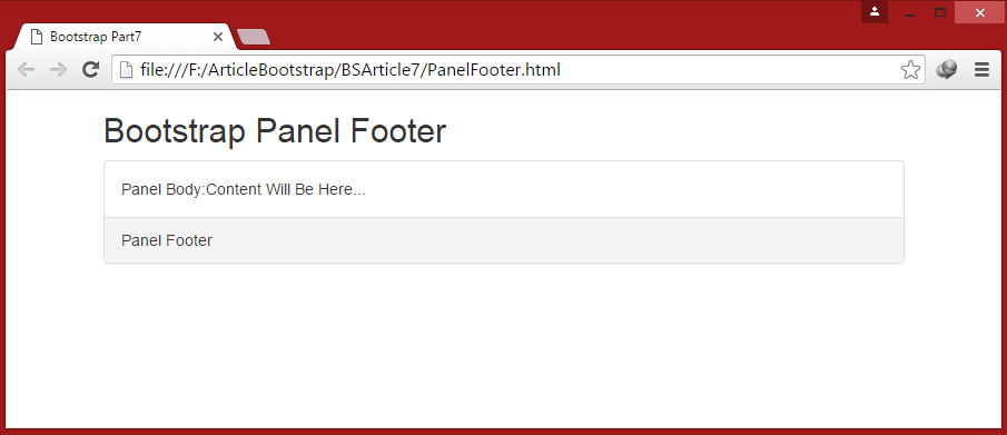 Bootstrap for beginners part seven bootstrap panels - Div class footer bootstrap ...