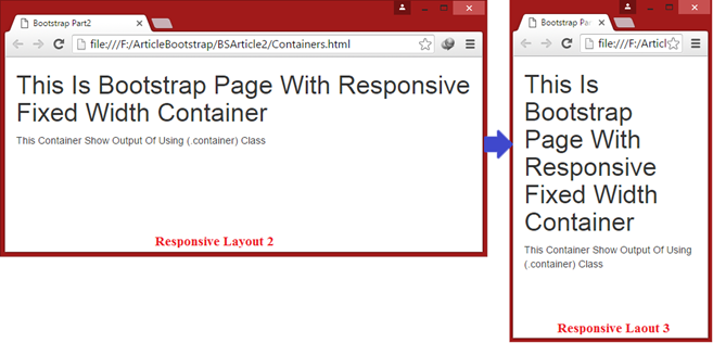 responsive fixed width container