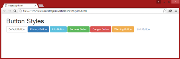 Bootstrap Button Styles
