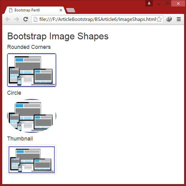 Bootstrap Image Shapes