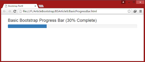 Creating Default Progress Bar