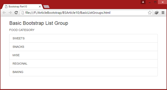 Basic List Groups