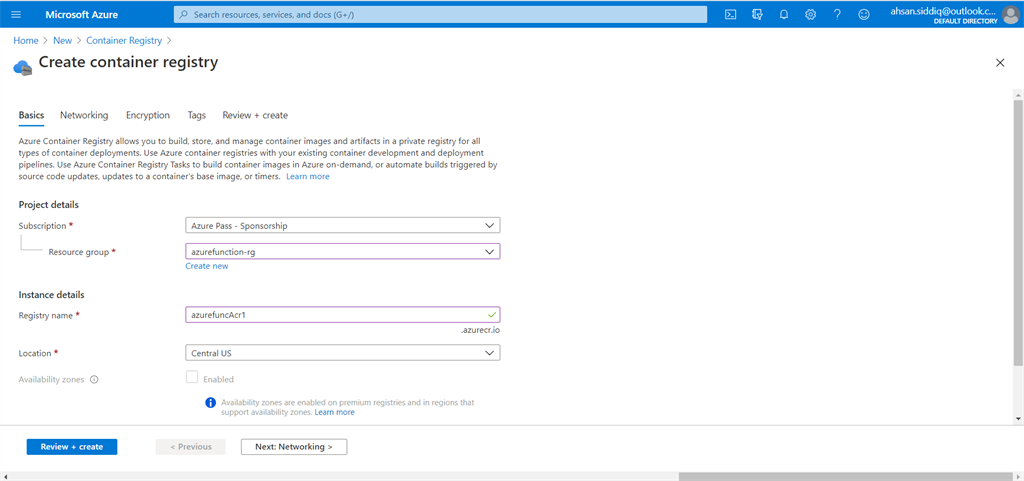 Build CI/CD Pipeline For Azure Container Instances