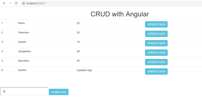 Building a CRUD application with Angular