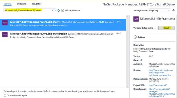 Manage NuGet Package