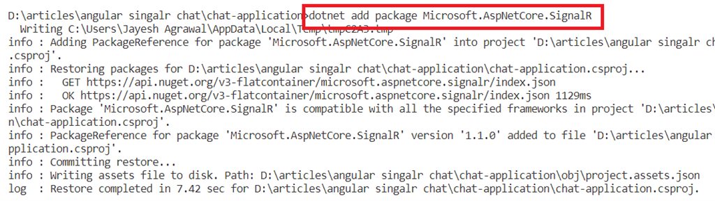 Chat Application Using Angular 8, ASP.NET Core, Signal R