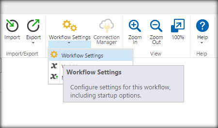 Select Workflow Setting