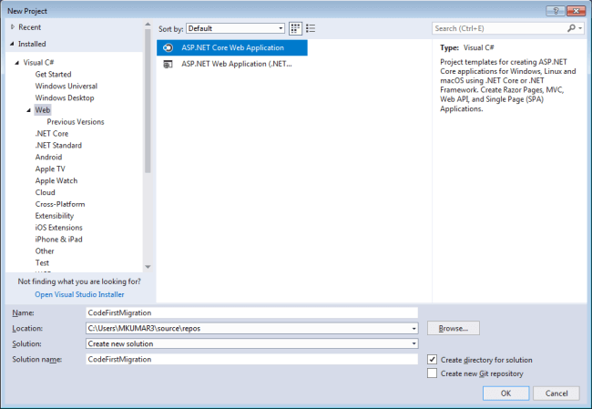 Code First Approach in Asp.Net Core MVC with EF Core Migration