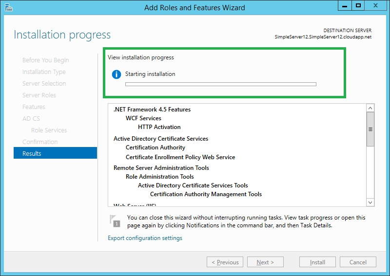 Configuring Active Directory Certificate Services In Server 2012