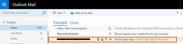 Connect The Outlook Mail To Excel Sheet With Azure Logic App