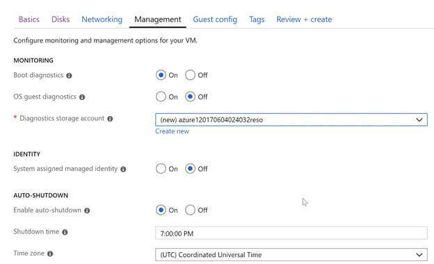 Construct Azure Virtual Machine