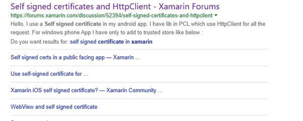Consume Https Service With Self-Signed Certificate In Xamarin Forms
