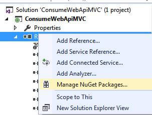 Consuming Web API In ASP.NET MVC