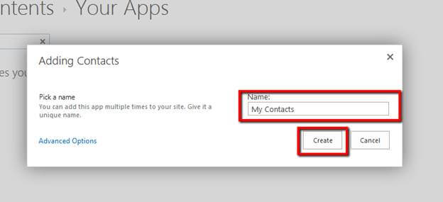 Working with Contacts List in SharePoint