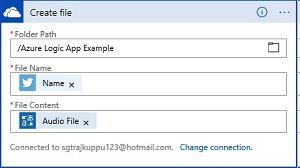 Convert Twitter Tweet into Audio File using Cognitive service with Azure Logic App