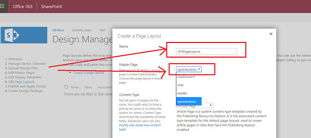 sharepoint default page layout