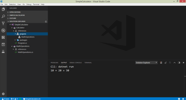 .NET Core Development Environment using Visual Studio Code