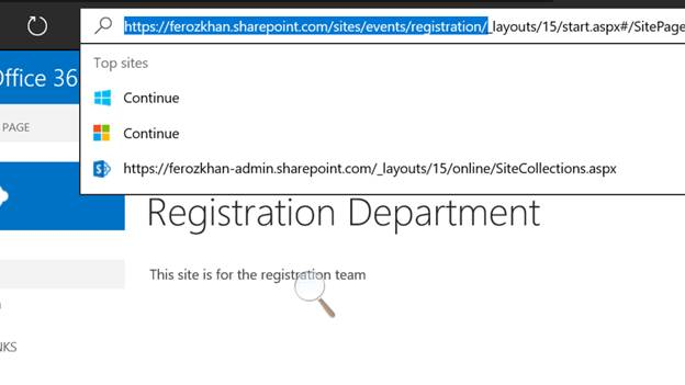 office 365 create sharepoint site