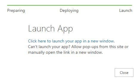 Click on the launch button