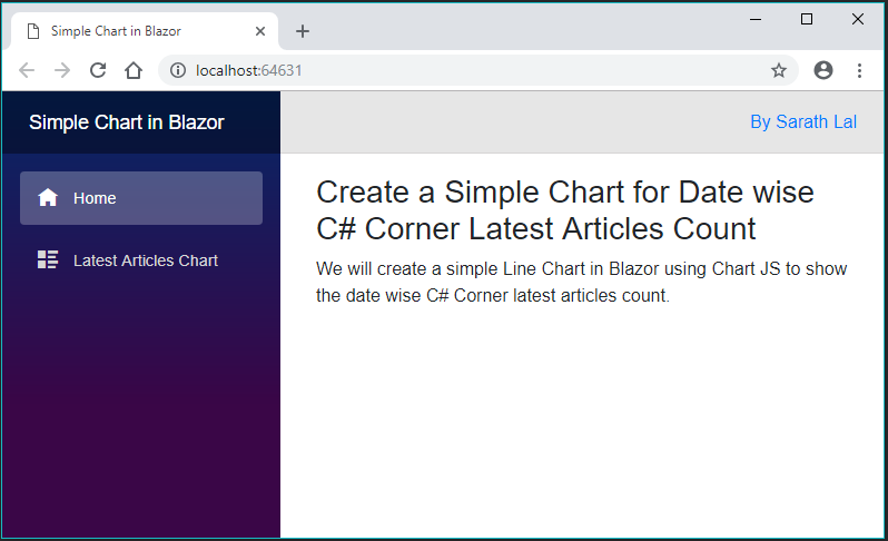 Create a Simple 📈Chart for Date wise C# Corner Latest Articles Count